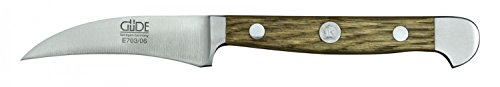 Güde Schälmesser ALPHA-EICHE Serie Klingenlänge: 6 cm Fasseichenholz, E703/06, Messer - Solingen - Deutsche Qualität, robust - scharf - geschmiedet - hochwertig