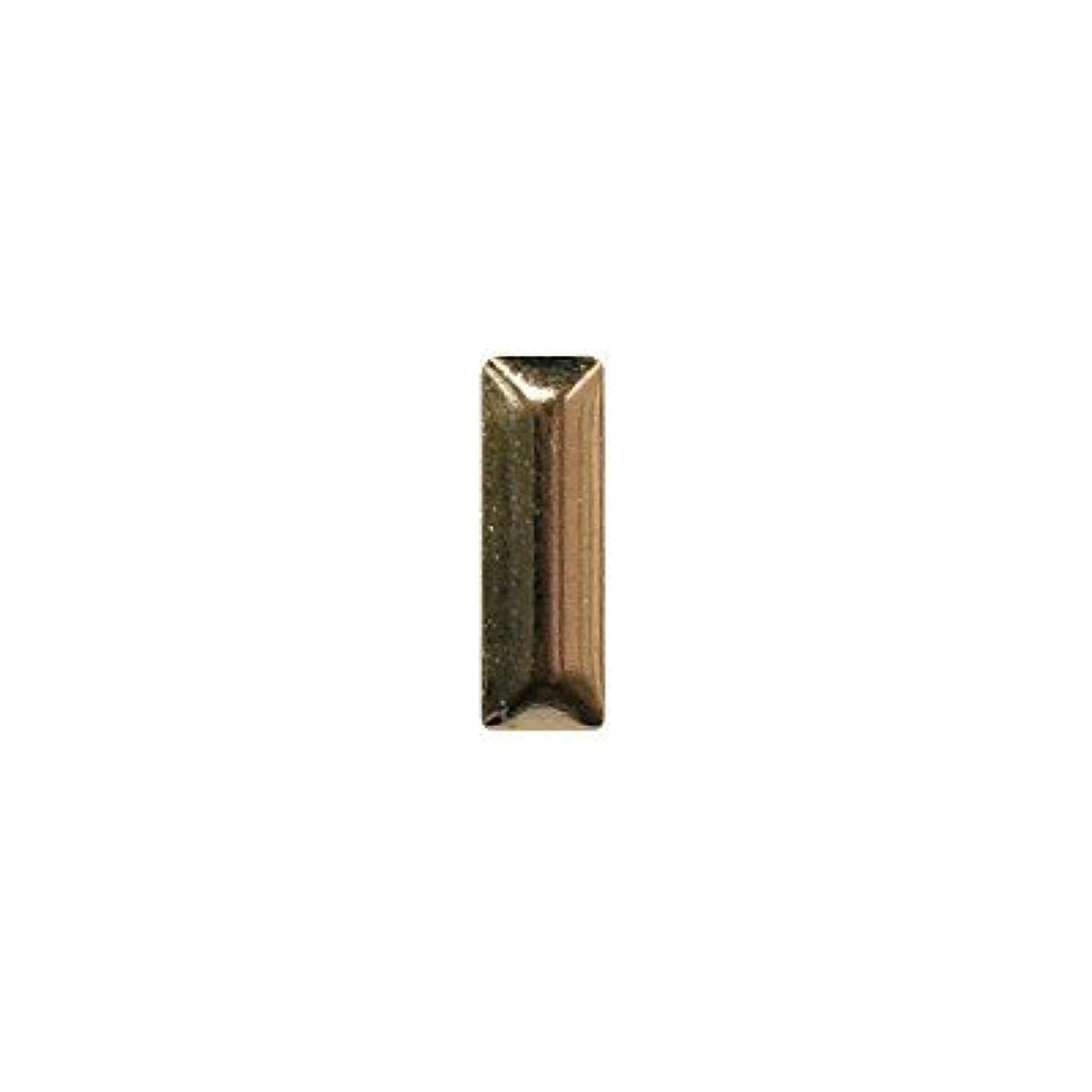 手配する大量ワイプピアドラ スタッズ メタル長方形 2×6mm 50P ゴールド
