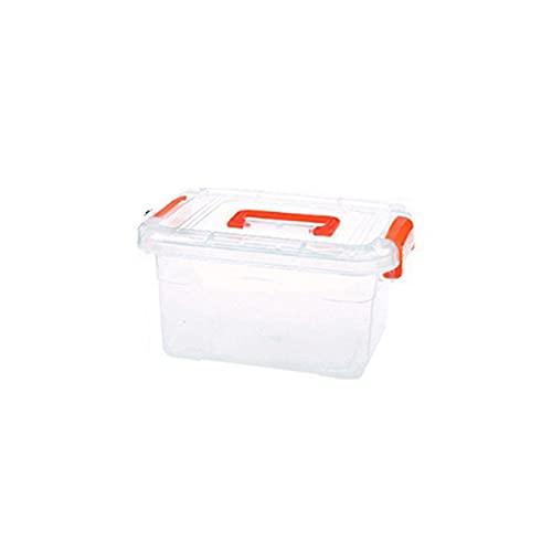 WUYOUNYL Caja plillín de Almacenamiento vapuroso con Tapa Naranja pequeña Caja de Almacenamiento de Ropa de Juguete portátil Total de Juguetes Caja de Almacenamiento de hogar