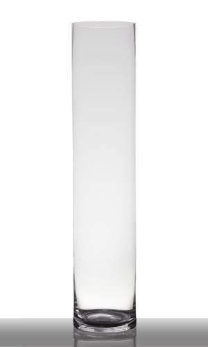 INNA-Glas Jarrón de Suelo Sansa, cilíndrico - Redondo, Transparente, 90cm, Ø 19cm - Florero de Cristal - Jarrón de pie