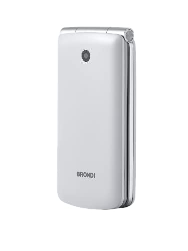 Brondi Magnum 3 Telefono Cellulare, Tastiera Fisica, Bianco