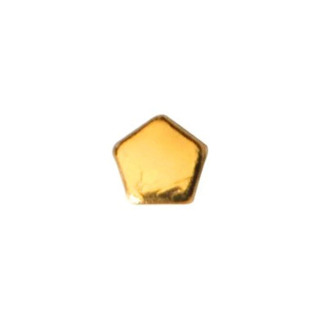 暖かさ独立して一方、ピアドラ スタッズ ペンタゴン 2mm 50P ゴールド