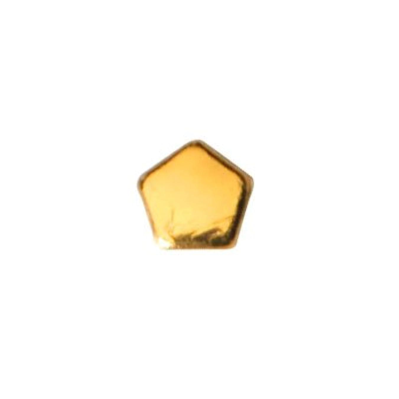 分注する蒸発西ピアドラ スタッズ ペンタゴン 2mm 50P ゴールド