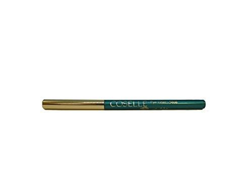Coselle Eyeliner in verschiedenen Farben, sehr weich, gut haftend, wasserfester Drehstift, kein Anspitzen, Made in Germany! (Smaragd)