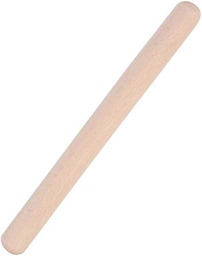 Rodillos de madera de haya Antiadherente Mango fácil Horno ecológico Horno de cocina Horno de cocina Rodillo para el hogar Pastelería Pastel Pizza Rodillo Herramienta para hornear Utensilios-29cm