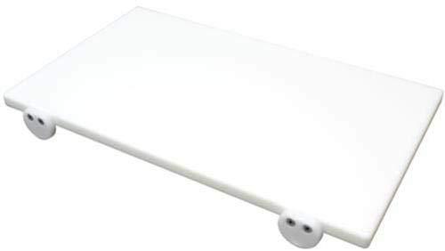 Tagliere in polietilene professionale bianco 50x30x2 con fermi