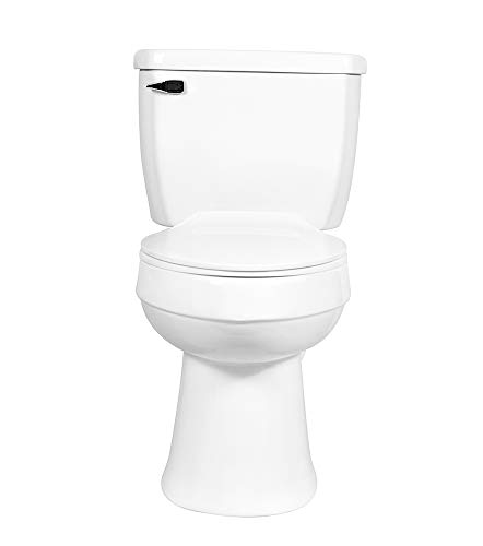 White 2-piece Elongated Toilet with Standard 12-in Rough-in , ELLAI Powerful Single Flush 1.28 GPF ADA Chair Height Toilet (Seat Included)