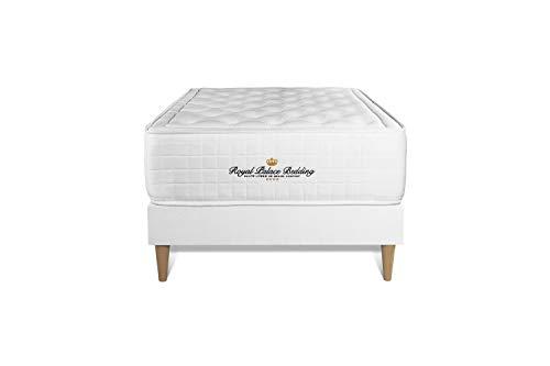 Ensemble Matelas à mémoire de Forme Maxi épaisseur Buckingham 90x200 sommier KIT Blanc | Epaisseur : 30 cm | Confort : Equilibré