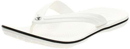 crocs Unisex-Erwachsene Crocband Flip Flop Zehentrenner, White, 39/40 EU