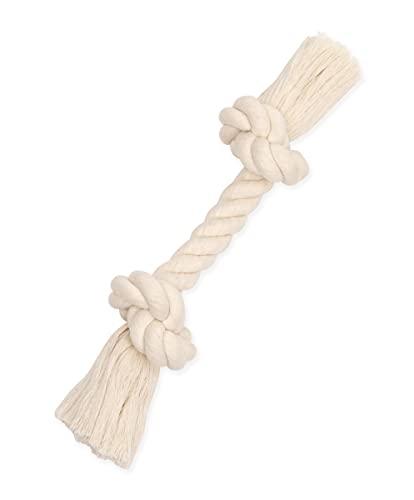 Mammoth Pet Products Flossy Chews 100-Percent Cotton White Rope Bone, Medium, 12-Inch (10004V)
