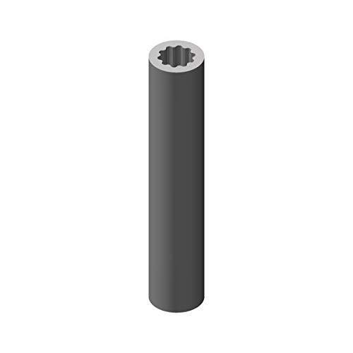 Profilrohr aus Aluminium,Außendurchmesser 23mm, rund, Innen vielzahn