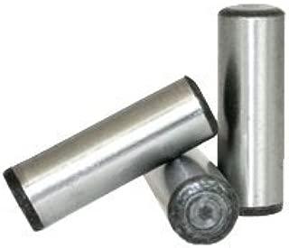 M4 x 20 MM Dowel PINS Alloy DIN 6325, Size: M4, Length: 20mm, Material: Alloy_Steel, Finish: Plain (Metric) (Quantity: 100)
