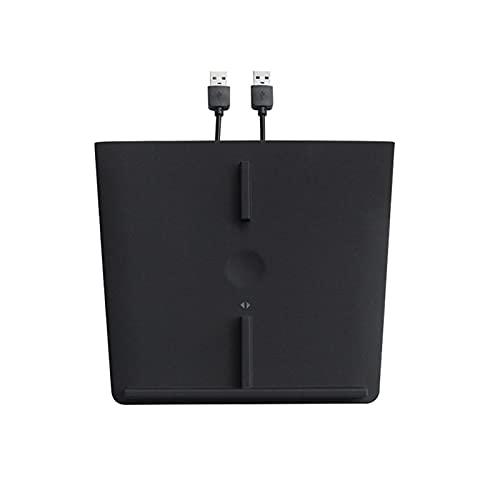 Cargador Inalámbrico De 10 Vatios Compatible Con Tesla Model 3, Almohadilla De Carga De Teléfono Inteligente Inalámbrica Qi Dual Con Usb, Accesorios De Automóvil Para Todos Los Teléfonos Habilitados