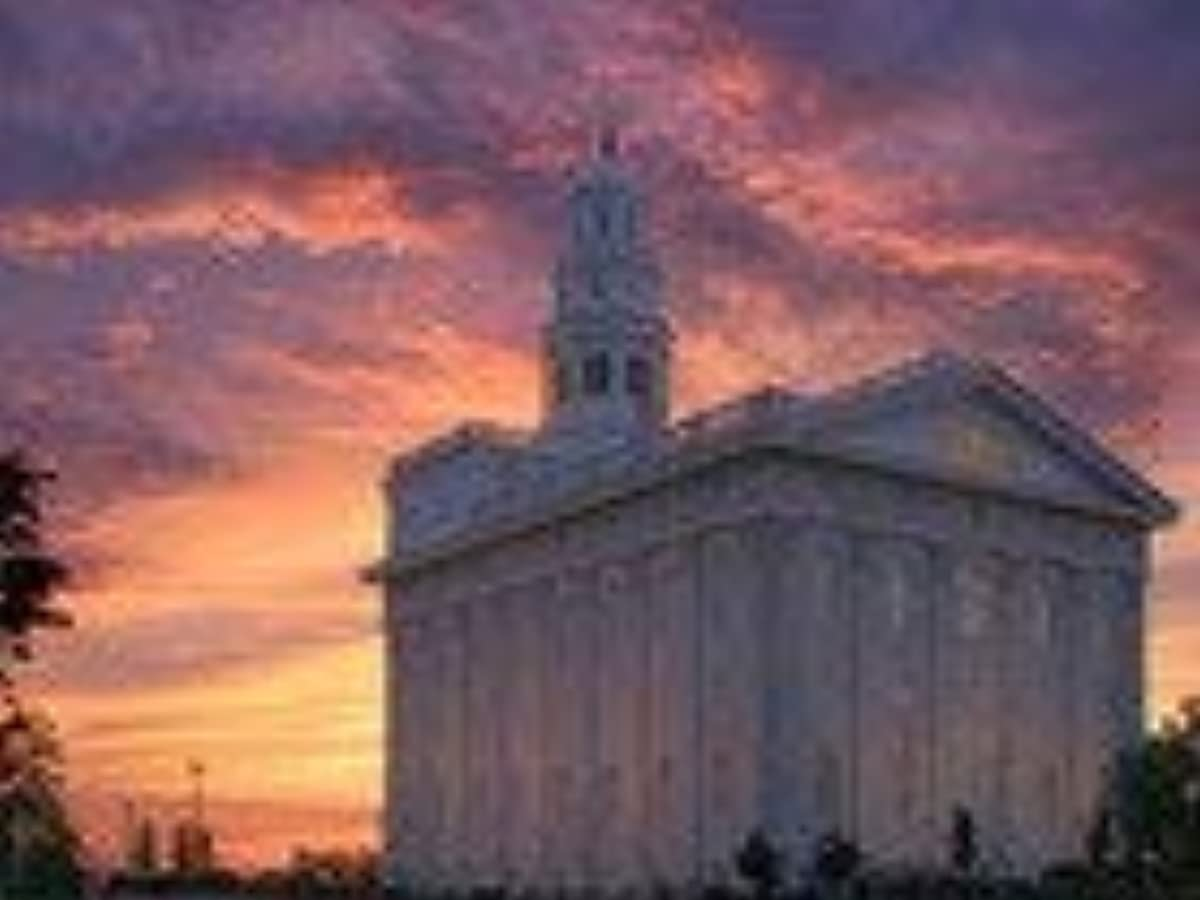 5D Diamond Painting Kits Drill Embroidery DIY Crystals Rhinestone Painting Pasted Paint by Number Kits Cross Stitch (Nauvoo Sunset LDS Temple)