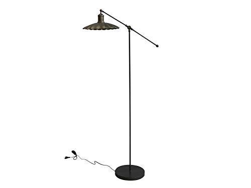 Lámpara de pie vintage de metal, altura de 156 cm, latón antiguo, diseño antiguo, candelabro Dinamarca, lámpara de pie