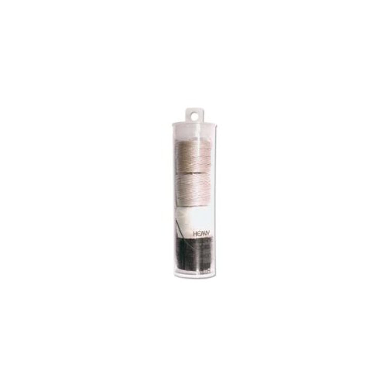 S-lon Heavy Bead Cord Salt & Pepper Mixture 0.9mm Diameter 4 Spools