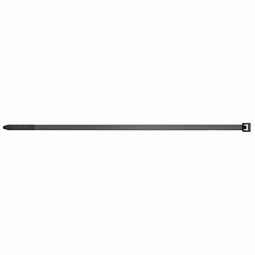 fischer Kabelbinder UBN 4,8 x 250 - Hochwertige Kabelverbinder zur einfachen Bündelung von Kabeln und Rohren, schwarz - 100 Stück - Art.-Nr. 69367