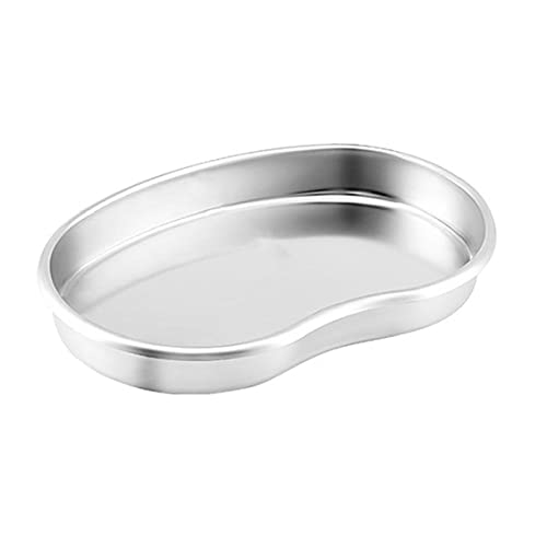 Stainless Steel Tray Kidney Bowl Kidney Shaped Basin Reusable Metal Kidney Dish S