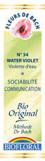 Biofloral, Flores De Bach 34 Water Violet - Violeta De Agua Bio Demeter - 20 ml