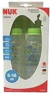 NUK Milk Bottles Classic 240 ml. Green Pack 2 New !!