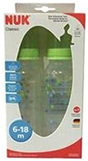 NUK Milk Bottles Classic 240 ml. Green Pack 2