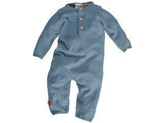 Bio Baby Overall Strick 100% Bio-Baumwolle (KbA) GOTS zertifiziert, Blau, 62/68