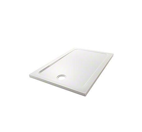 Mira Volo basso profilo in acrilico con pietra in resina piatto doccia rettangolare 1600x 900mm 0UPS (upstands) Bianco 1.1697.043.WH