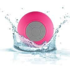 Caixa De Som Bluetooth Sem Fio Aprova Dagua Banheiro Rosa