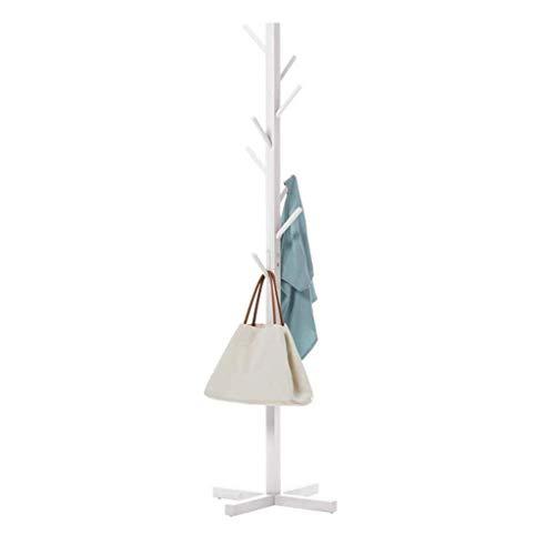 Alvnd Houten kapstok, 72,8 cm hoog, met 8 haken, voor hal, badkamer, woonkamer, slaapkamer