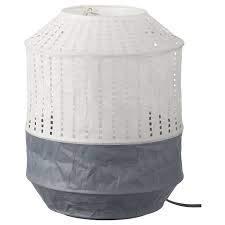 IKEA MAJORNA Tischlampe Lampenschirm weiß aus Reispapier 32cm