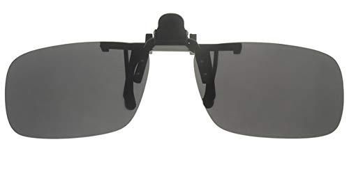 Fitsch Online UG Brillenaufsatz grau Sonnenbrillen-Clip Sehbrillen-Aufsatz mit polarisierenden Gläsern