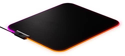 SteelSeries QcK Prism - Tapis de souris de jeu en tissu - Éclairage RVB 2 zones - Éclairage événementiel en temps...