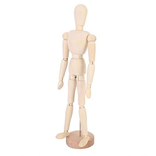 Modelo de hombre de extremidades móviles, modelo de hombre de madera de superficie lisa para modelos de artista para sala de estudio
