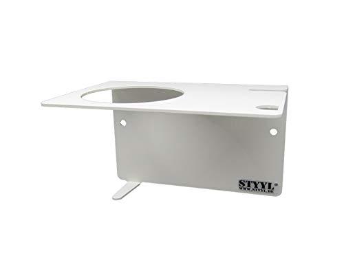 STYYL / Wandhalter z.B. für Thermomix® Zubehör TM5 & TM6 weiß RAL9010, Klebebefestigung kein Bohren!