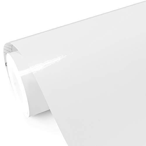 TECKWRAP White Gloss Car Vinyl Wrap Roll with Air Release Technology 11.5'x 60'