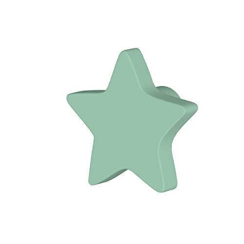 Greca Tirador Estrella Lacado. 6 Unidades. Pomos Infantiles lacados Mate