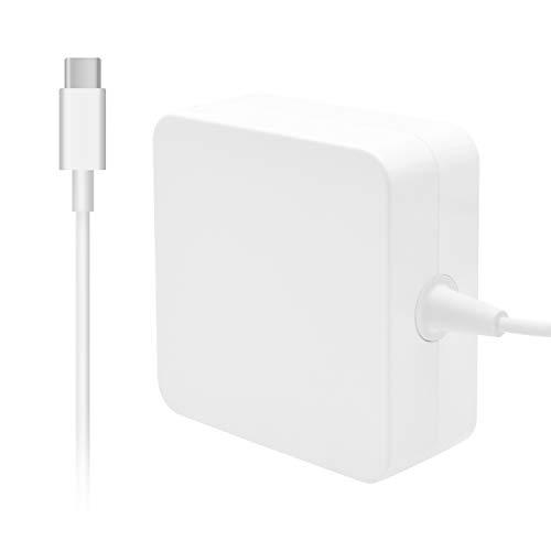 Uflatek 61W USB C Cargador para Mac Book 13/15 2016 2017 2018 2018 Pulgadas Incluye Cable E-Marker USB C (6.6ft/2m) Cargador de reemplazo para Otro Dispositivo electrónico Tipo C