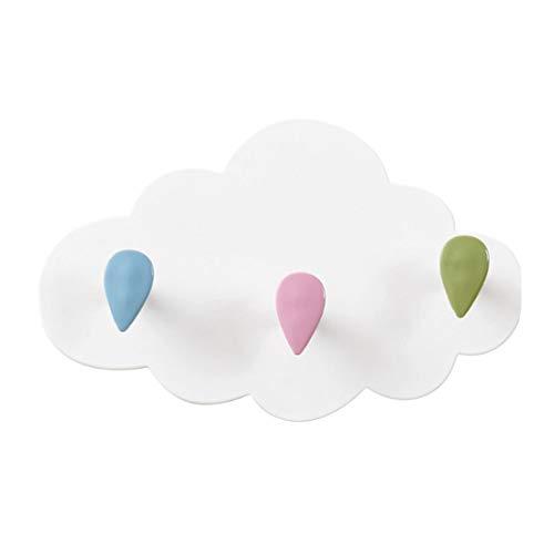YUENA CARE Percheros Decorativos de Montaje en Pared de ABS, Forma Nube y Estrella Hermoso para Salón Dormitorio Baño y Cocina,2 Unidades #1