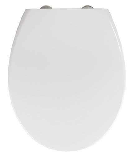 WENKO WC-Sitz Delos Family mit integriertem Kindersitz und Absenkautomatik, hygienischer Toilettensitz für Familien, mit Fix-Clip Befestigung, aus antibakteriellem Duroplast, Weiß