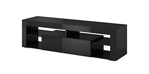 E-Com - Mobile TV Titan, 140 cm, Colore: Nero