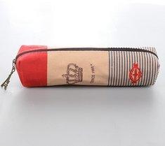 Chakil federmäppchen Vielseitig einsetzbares mäppchen school supplies Leinwan-Federmäppchen Pencil Case Bleistift Hülle,SüßesEtui,18.5cm*4cm,Leinwan,