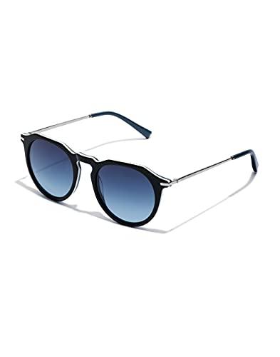 HAWKERS Warwick Crosswalk Gafas de Sol, Black Blue Denim, Talla única Unisex Adulto