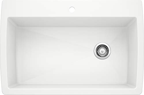 BLANCO White 440195 DIAMOND SILGRANIT Composite Kitchen Sink