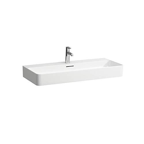 Laufen VAL Möbel-Waschtisch, 1 Hahnloch, mit Überlauf, 950x420, weiß, Farbe: Weiss matt