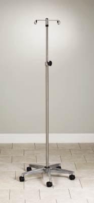 MediChoice IV Pole, Rolling, 2 Hook - 5 Leg, Chrome Plated, 45 lbs Load Capacity, 1314IVCR1010 (1 Each)