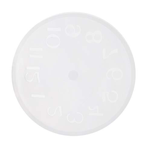 D DOLITY Moule Silicone Horloge Moule de Bijoux Bricolage Savon Décor De Gâteau - Arabe Chiffre S