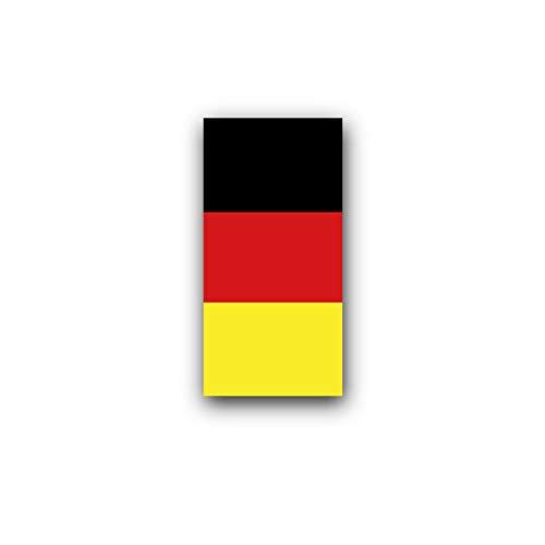 Aufkleber/Sticker Deutschland Fahne Kfz Kennzeichen Y-Nummernschild 3x6cm A3528