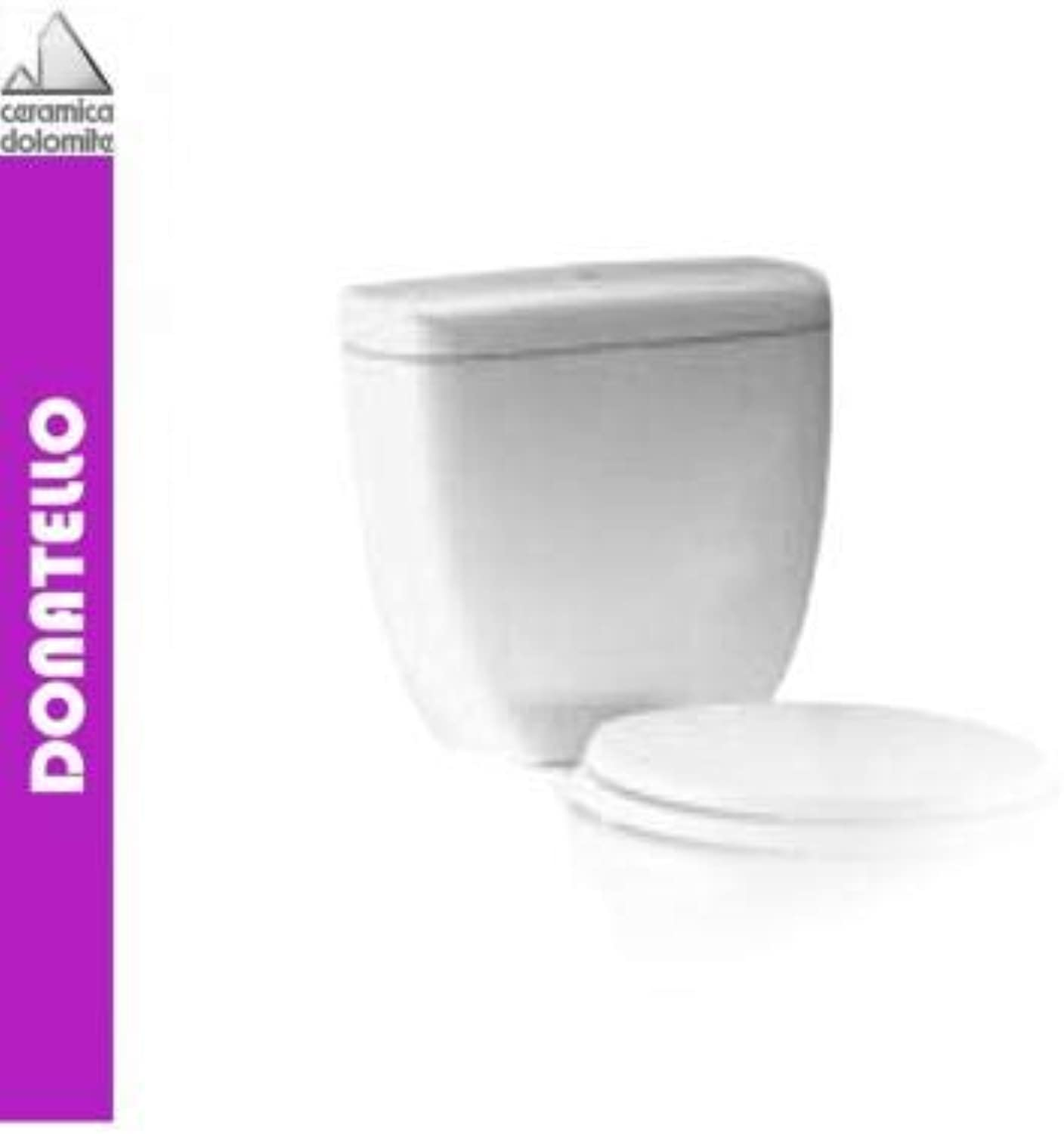 Ceramica Dolomite - Dolomite Collection Donatello, J508701 Cistern Close-coupled wc, high Inlet - White, in Stock