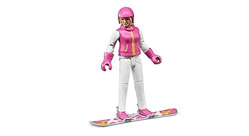 Bruder 60420 - Snowboardfahrerin mit Snowboard, Helm und Handschuhen