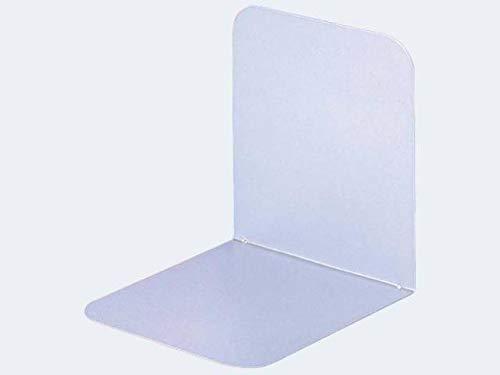 Maul Buchsttzen aus Metall, breit, 120 x 140 x 140 mm, weiá, Pack mit 2 Stck